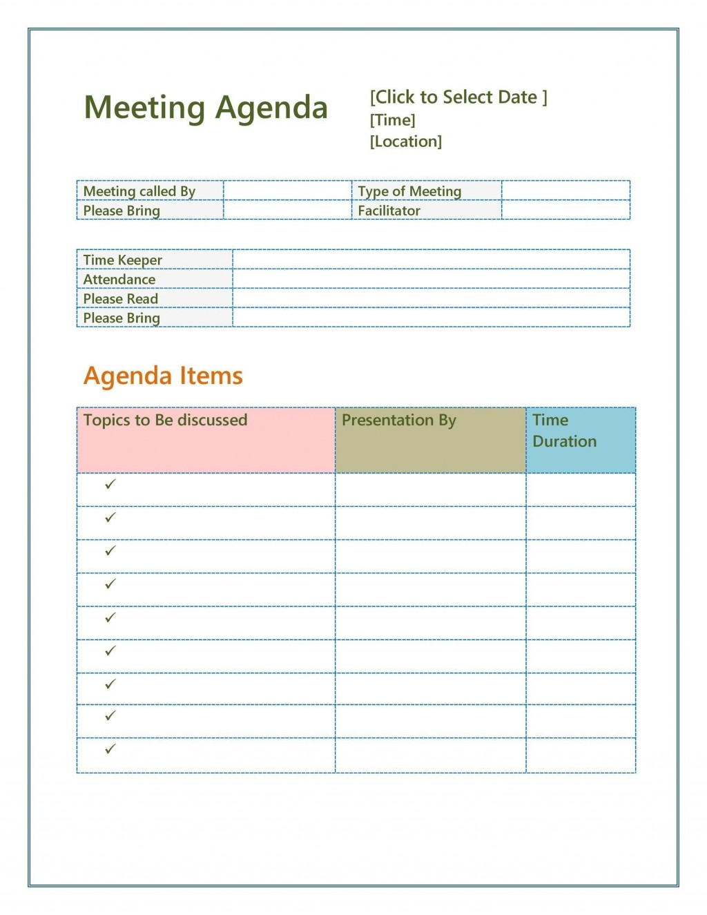 002 Phenomenal Construction Project Kickoff Meeting Agenda Template Sample Large