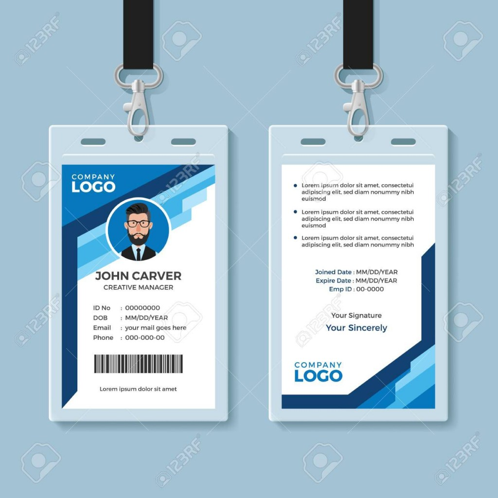 002 Phenomenal Employee Id Badge Template Highest Quality  Avery Card Free Download WordLarge