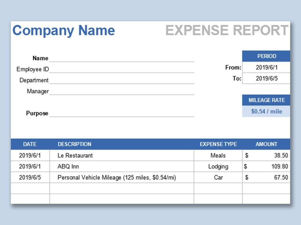 002 Phenomenal Expense Report Template Free High Def  Pdf Excel DownloadLarge