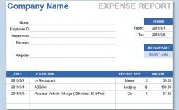 002 Phenomenal Expense Report Template Free High Def  Pdf Excel Download