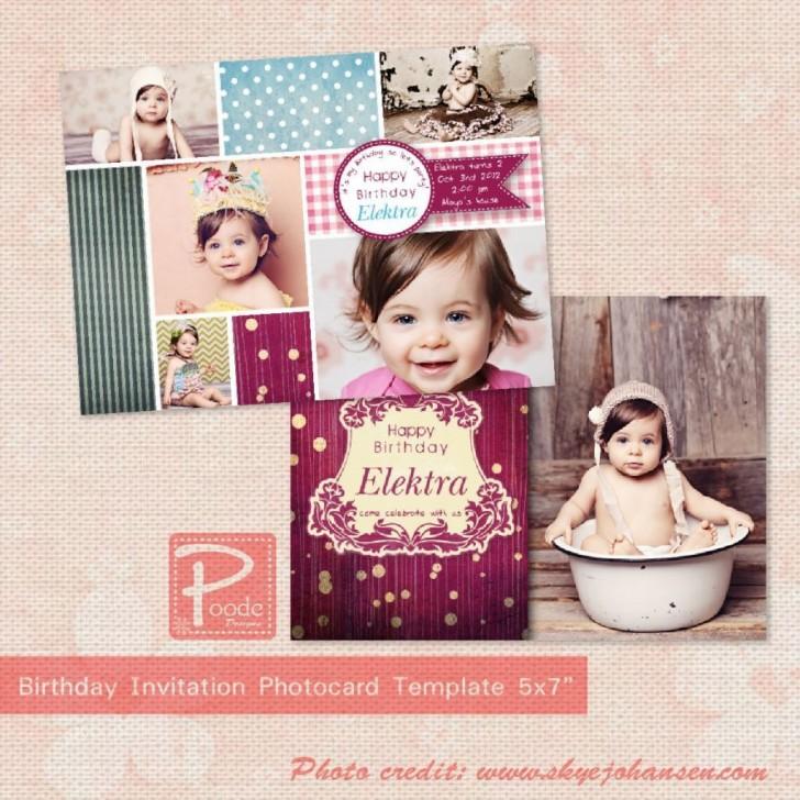 002 Phenomenal Free Online 1st Birthday Invitation Card Maker For Twin Inspiration 728