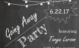 002 Phenomenal Going Away Party Invitation Template High Def  Free Printable