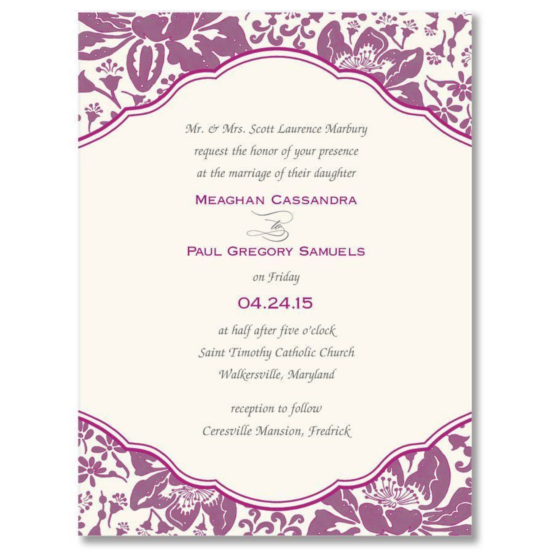 002 Phenomenal Invitation Template For Word Concept  Birthday Wedding Free Indian1920