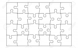 002 Phenomenal Jig Saw Puzzle Template Sample  Printable Blank Jigsaw Vector Free Png