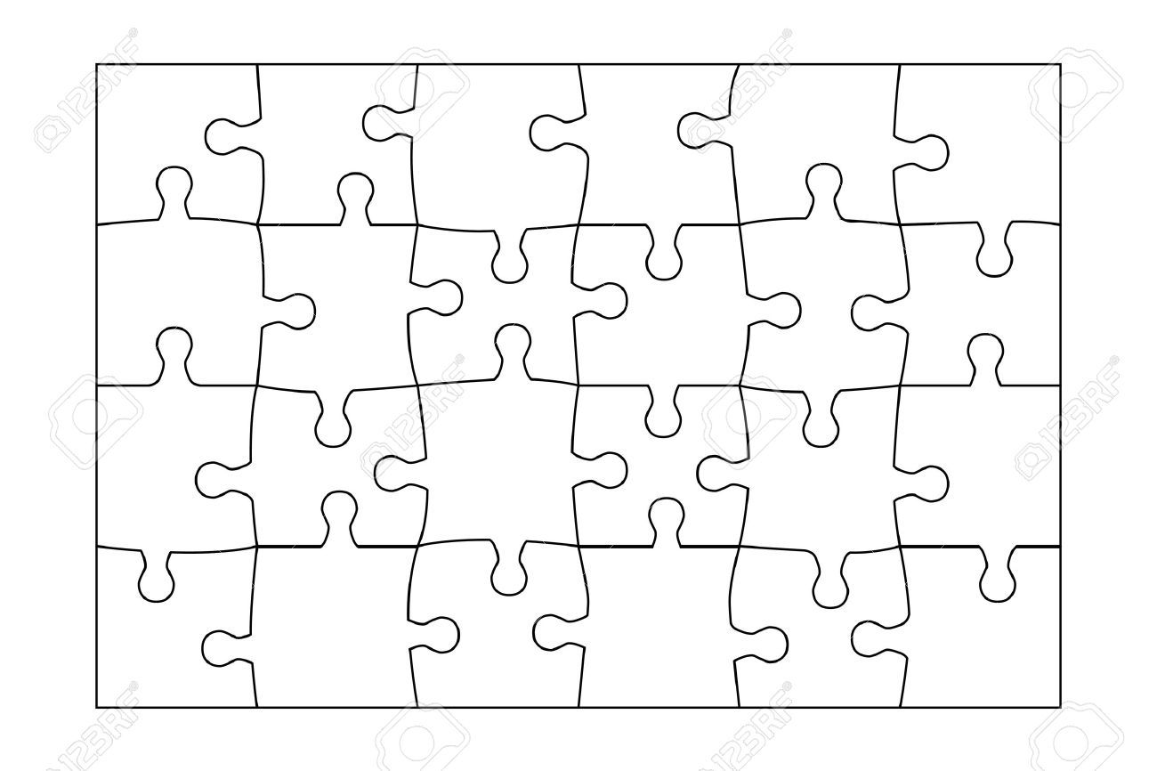 002 Phenomenal Jig Saw Puzzle Template Sample  Printable Blank Jigsaw Vector Free PngFull
