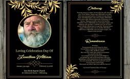 002 Phenomenal Memorial Card Template Free Download Sample