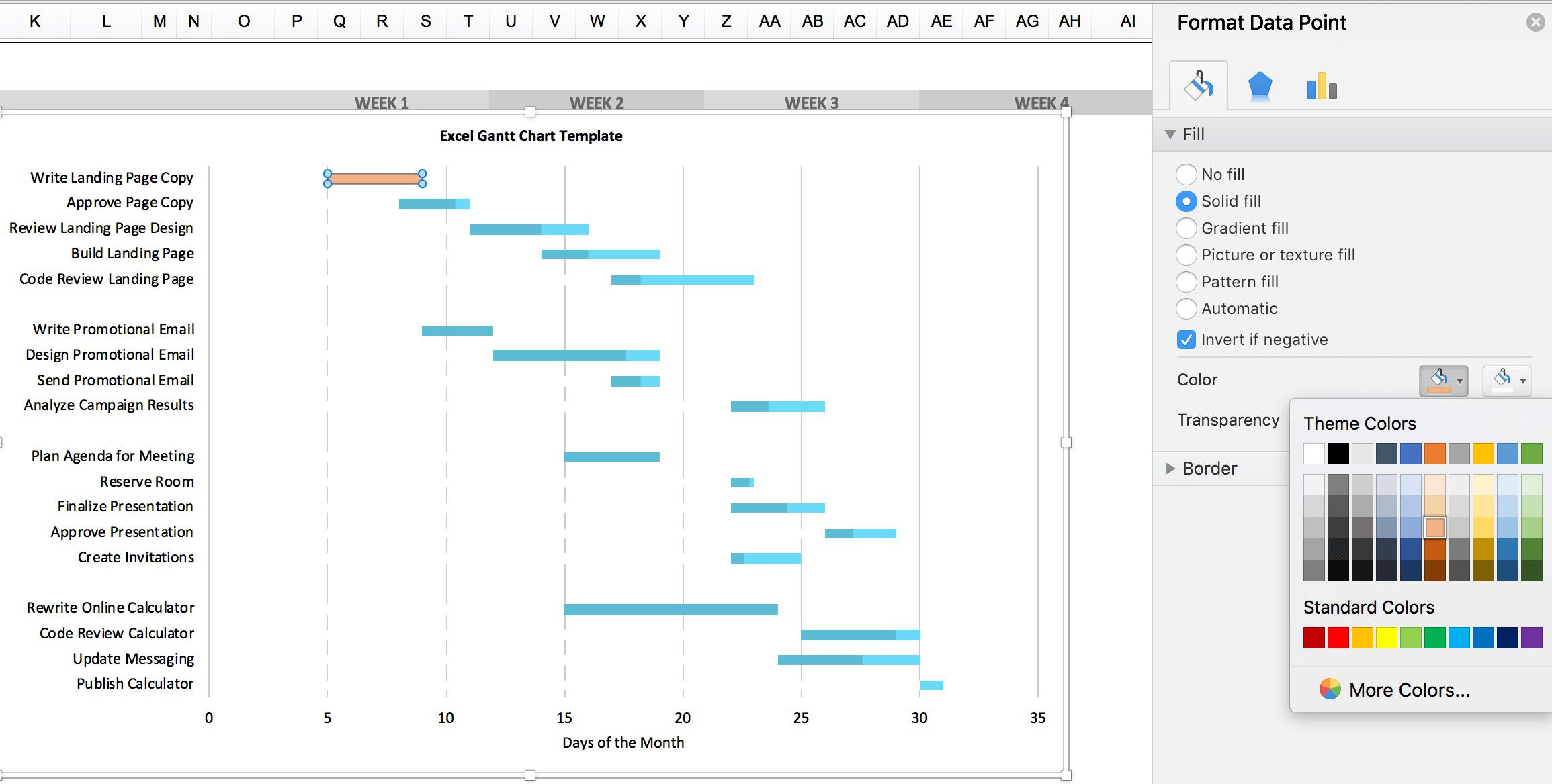 002 Phenomenal Microsoft Excel Gantt Chart Template Highest Clarity  M Office Free Download ProjectFull