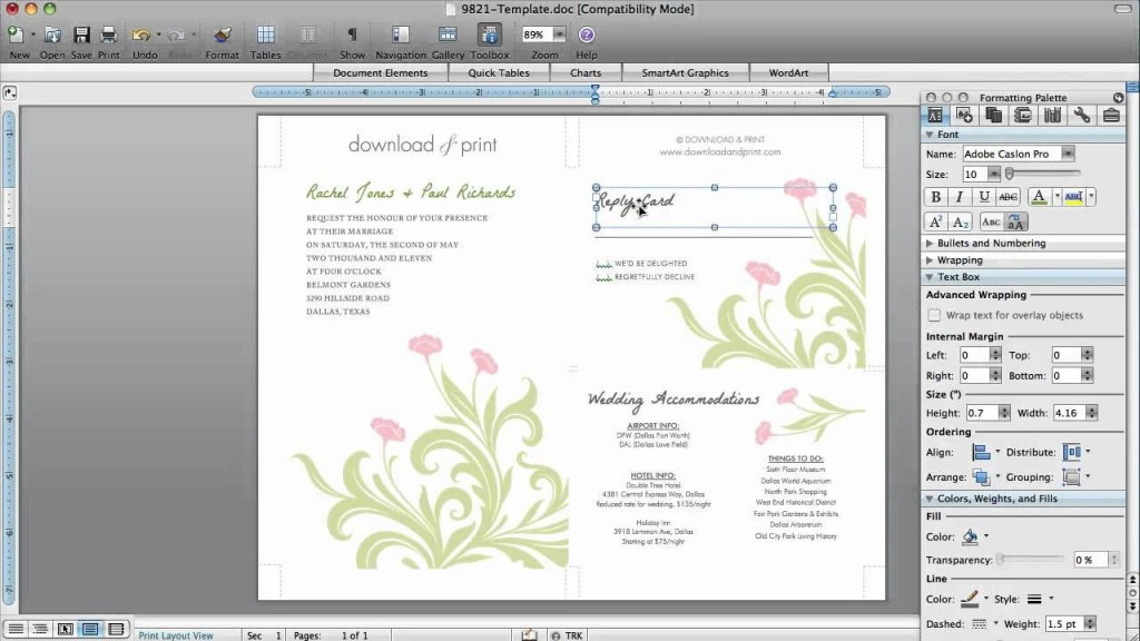 002 Phenomenal Microsoft Word 2020 Birthday Invitation Template Concept Large