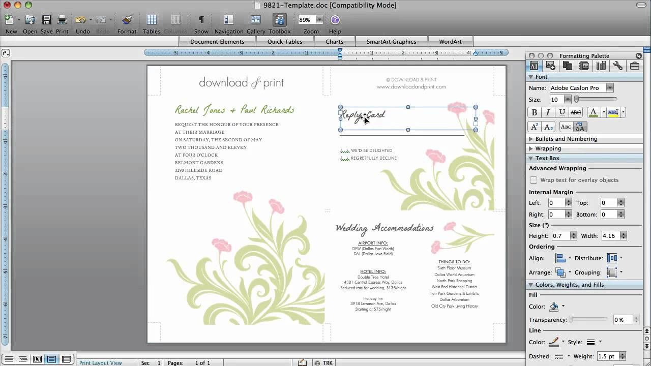 002 Phenomenal Microsoft Word 2020 Birthday Invitation Template Concept Full