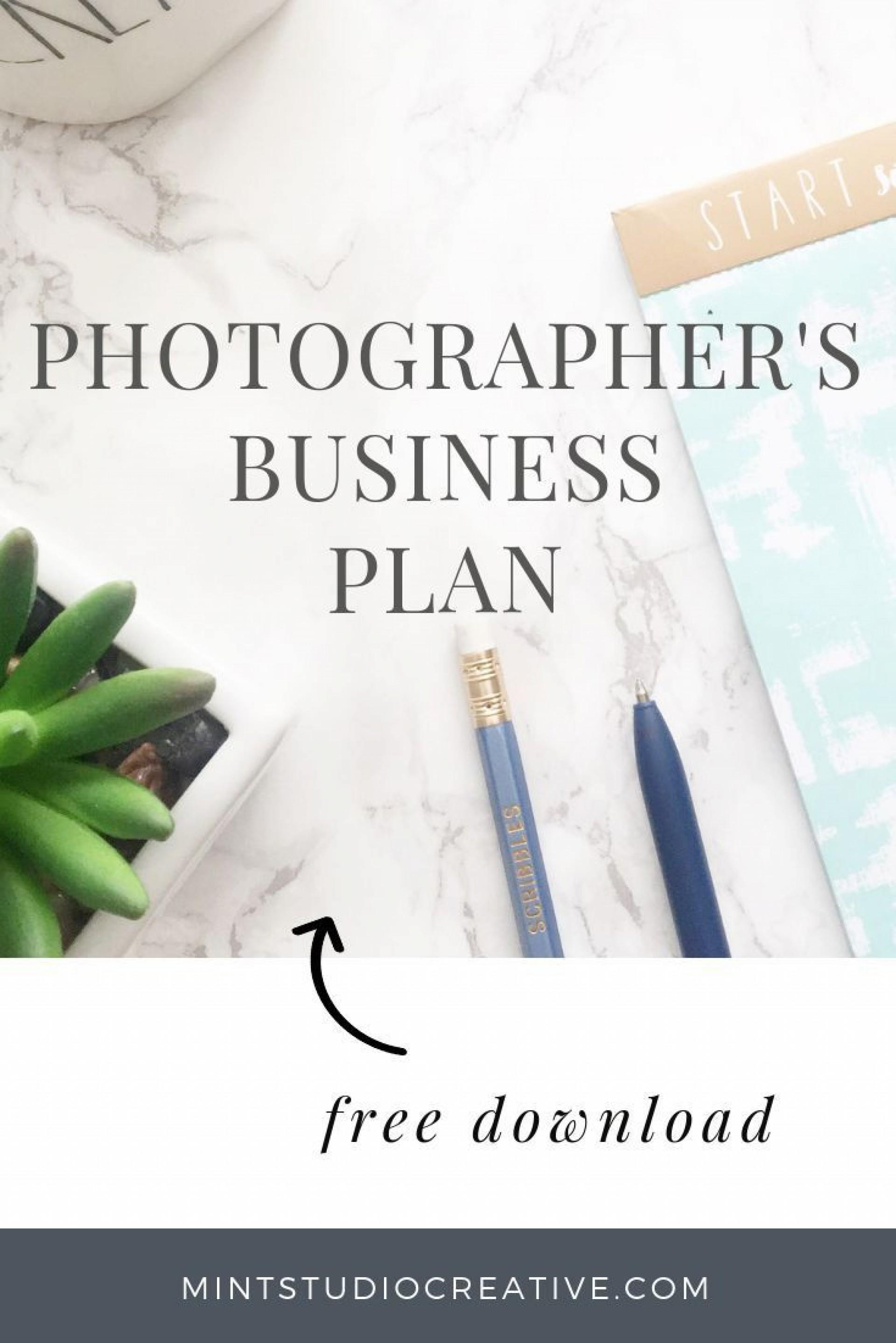 002 Phenomenal Photography Busines Plan Example  Examples Pdf Proposal1920