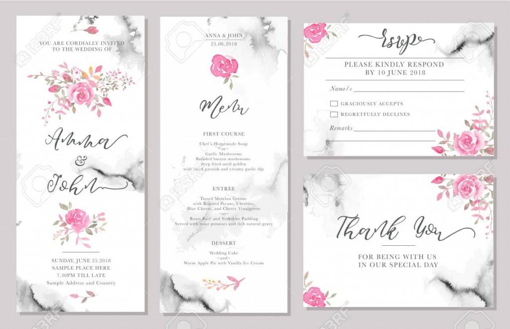 002 Phenomenal Sample Wedding Invitation Card Template Idea  Templates Free Design Response WordingLarge