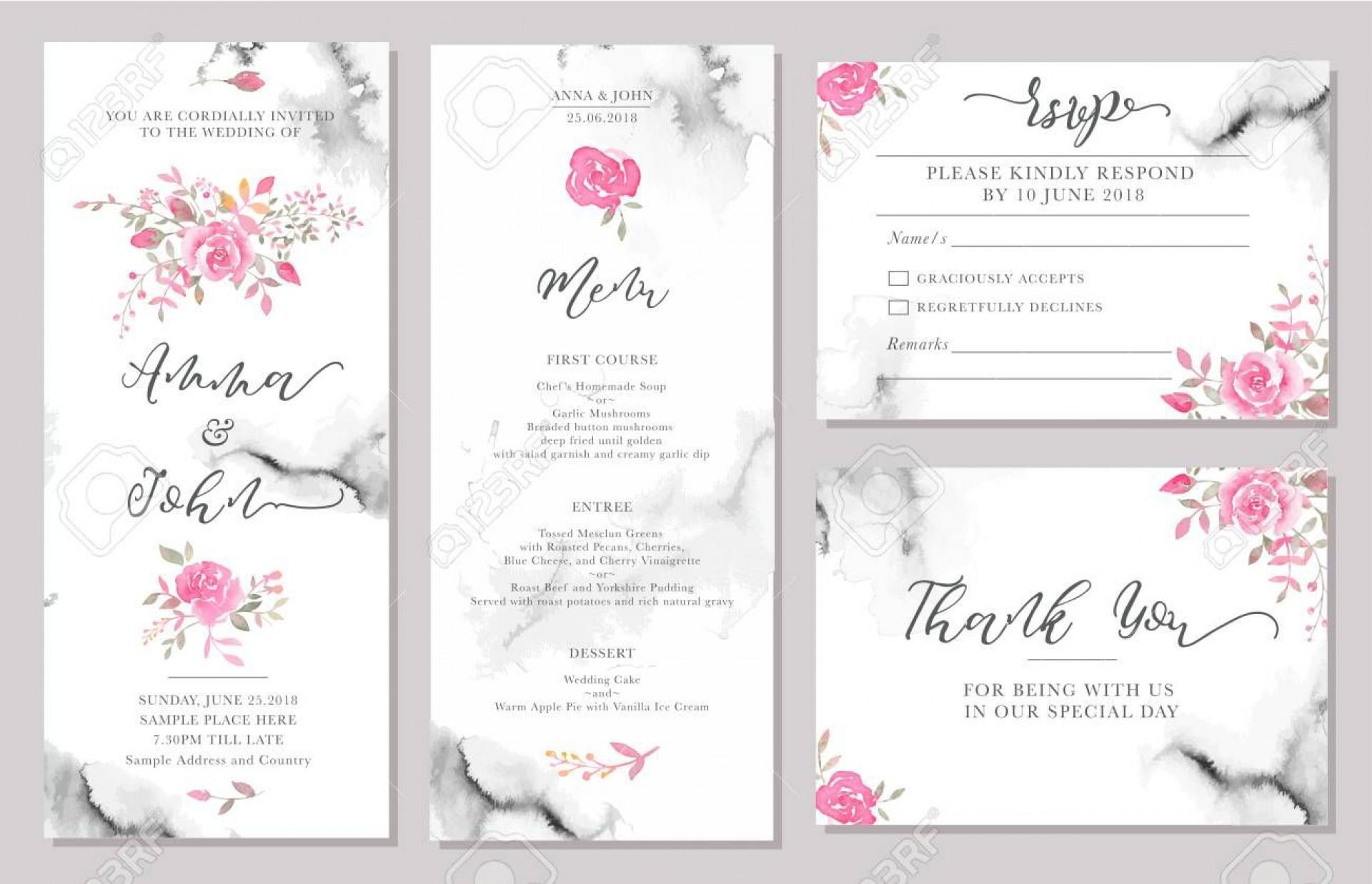 002 Phenomenal Sample Wedding Invitation Card Template Idea  Templates Free Design Response Wording1920