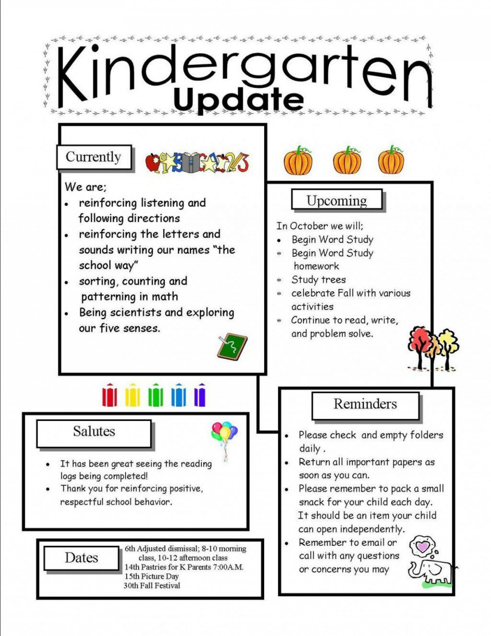 002 Phenomenal School Newsletter Template Word Highest Quality  Free Classroom For Microsoft1920