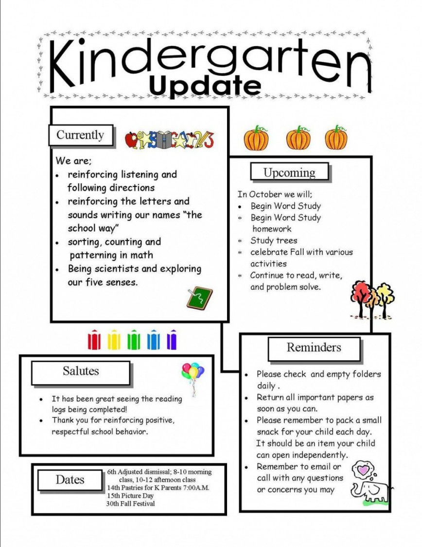 002 Phenomenal School Newsletter Template Word Highest Quality  Free Classroom For Microsoft