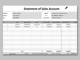 002 Phenomenal Statement Of Account Template Image  Uk Free Doc Customer320