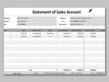 002 Phenomenal Statement Of Account Template Image  Uk Free Doc Customer360