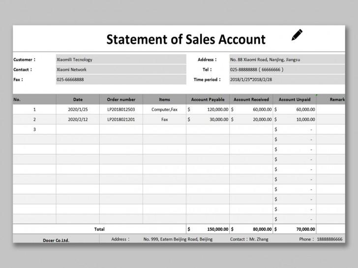 002 Phenomenal Statement Of Account Template Image  Uk Free Doc Customer728