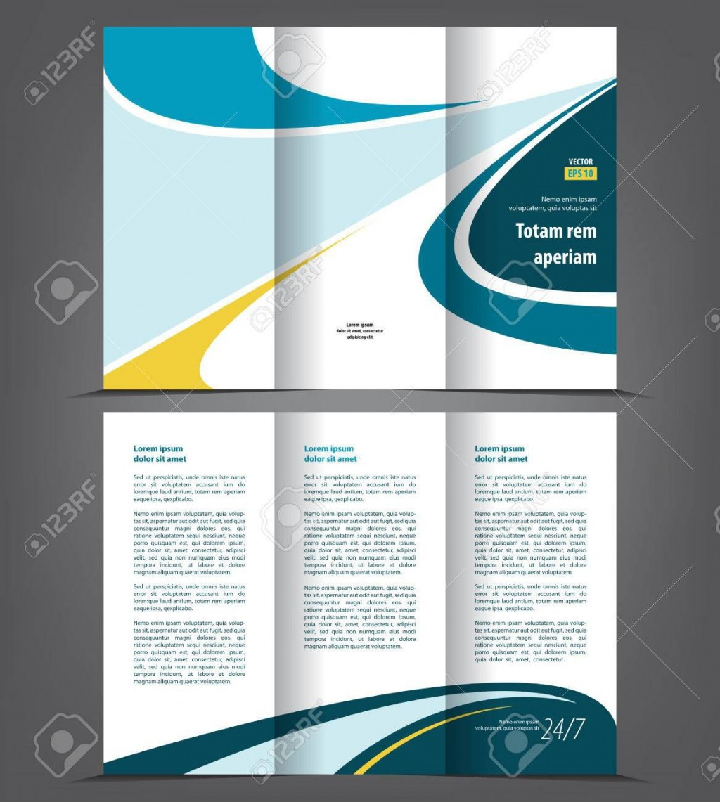 002 Phenomenal Three Fold Brochure Template High Resolution  Word Free 3 Psd DownloadLarge