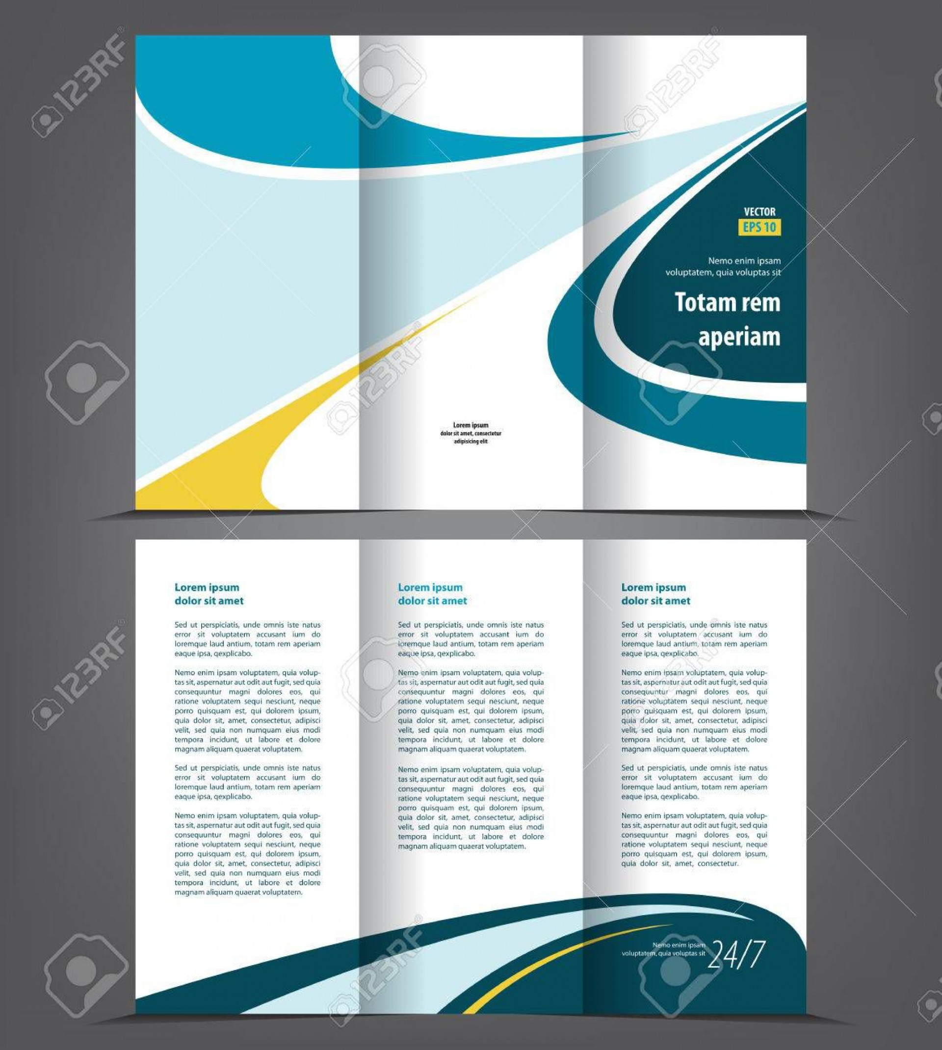 002 Phenomenal Three Fold Brochure Template High Resolution  Word Free 3 Psd Download1920