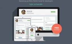 002 Phenomenal Web Developer Portfolio Template Picture  Templates Best Design Theme Free Wordpres