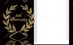 002 Rare 50th Wedding Anniversary Invitation Card Sample Design  Wording