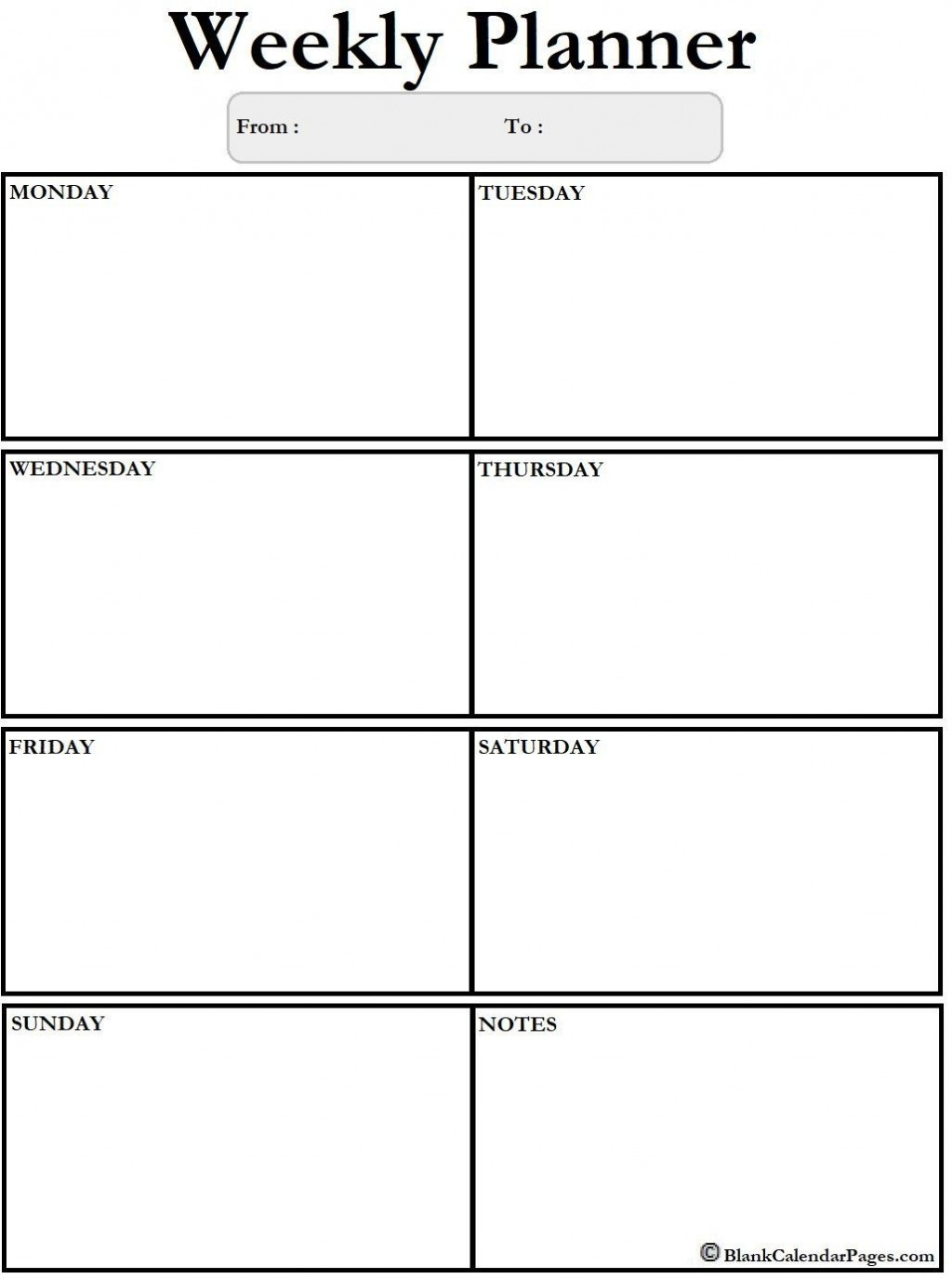 002 Rare Blank Weekly Calendar Template Design  Word Microsoft 2019Large