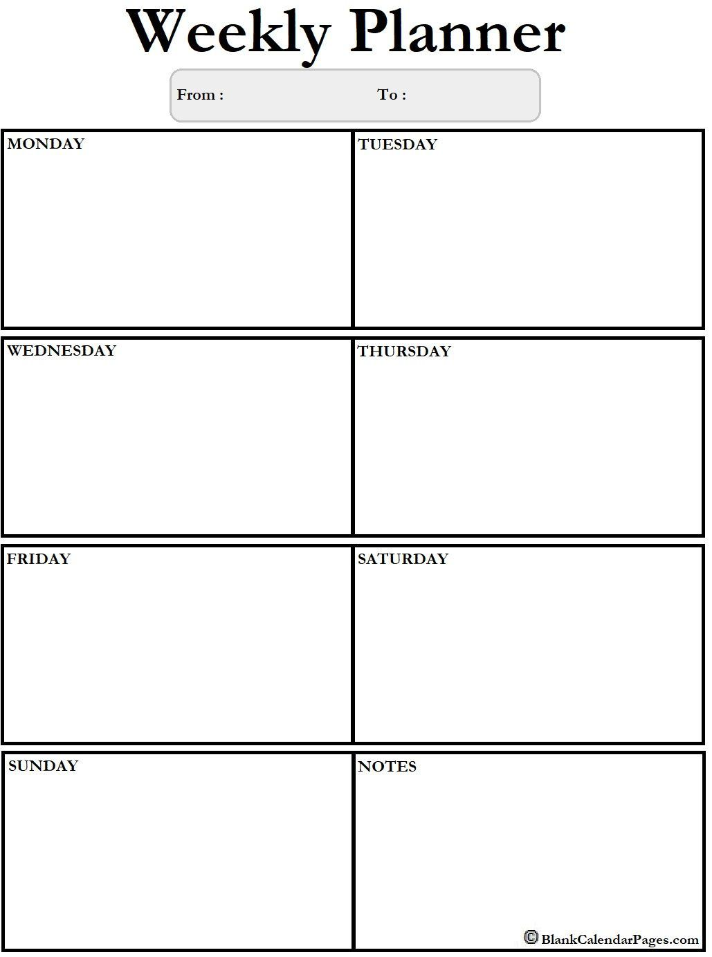 002 Rare Blank Weekly Calendar Template Design  Word Microsoft 2019Full