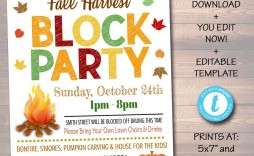 002 Rare Block Party Flyer Template Photo  Templates Free