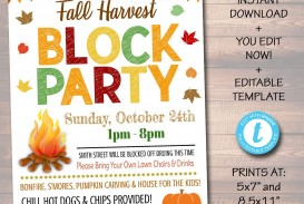 002 Rare Block Party Flyer Template Photo  Free
