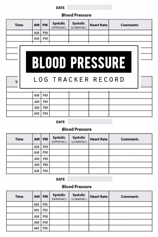 002 Rare Blood Pressure Log Template Idea  Printable Free Sheet ChartLarge