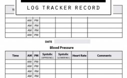002 Rare Blood Pressure Log Template Idea  Printable Free Sheet Chart