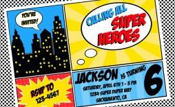 002 Rare Editable Superhero Invitation Template Free Highest Clarity