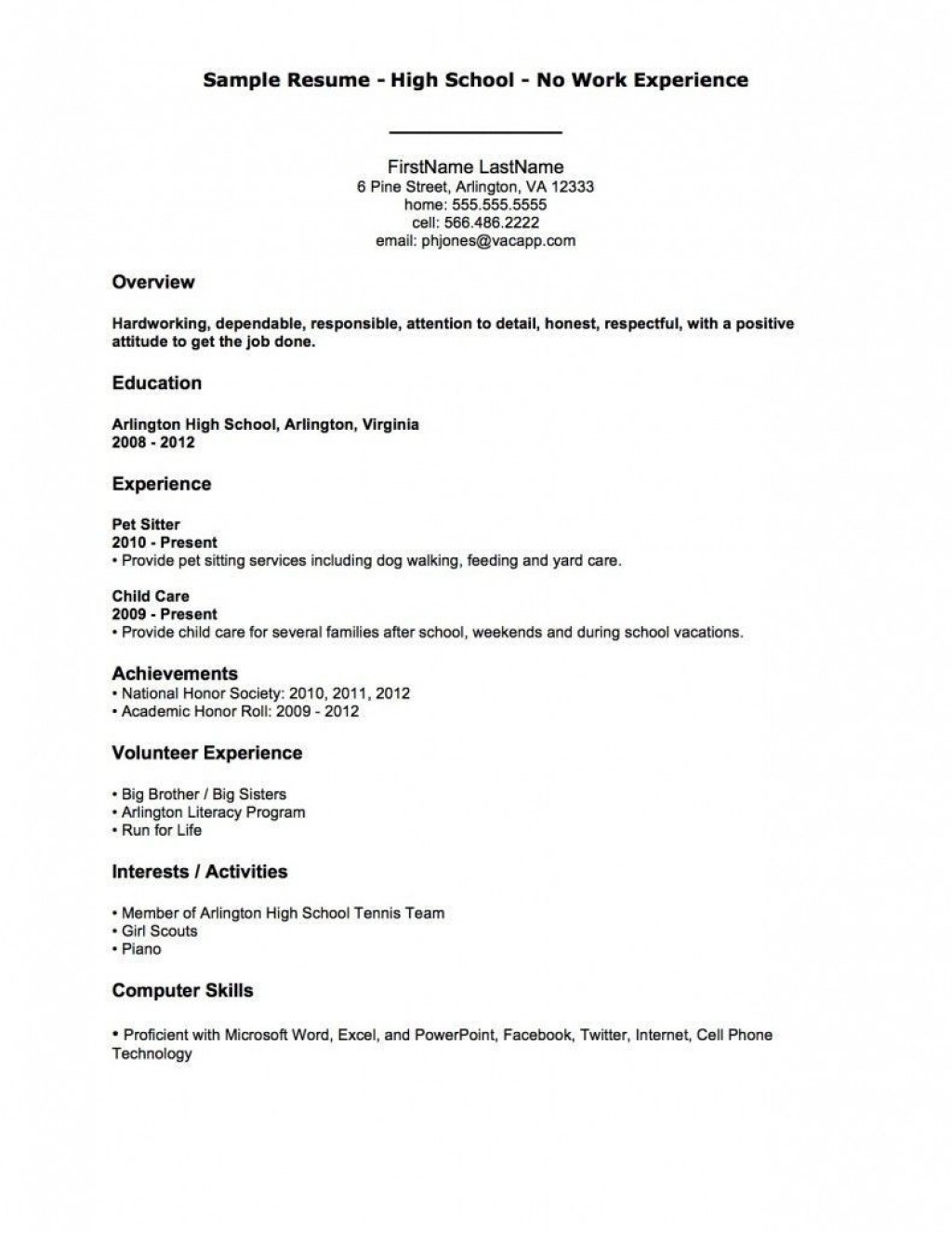 002 Rare First Time Resume Template High Definition  Job Seeker Teenage Sample For TeenagerLarge