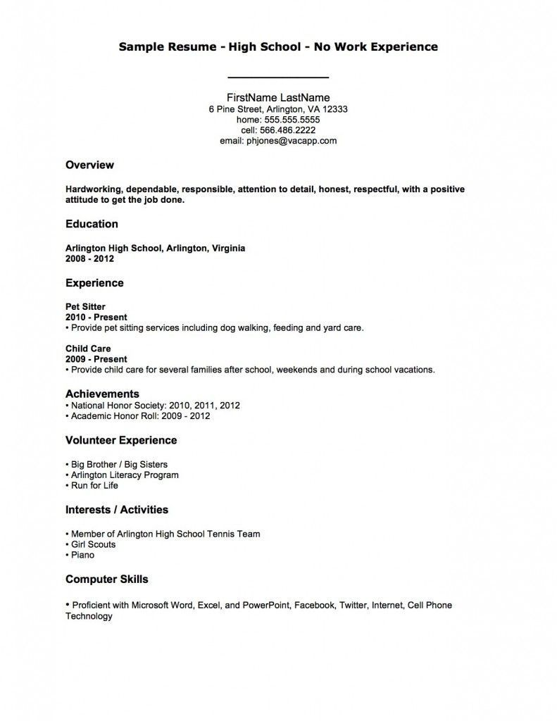 002 Rare First Time Resume Template High Definition  Job Seeker Teenage Sample For TeenagerFull
