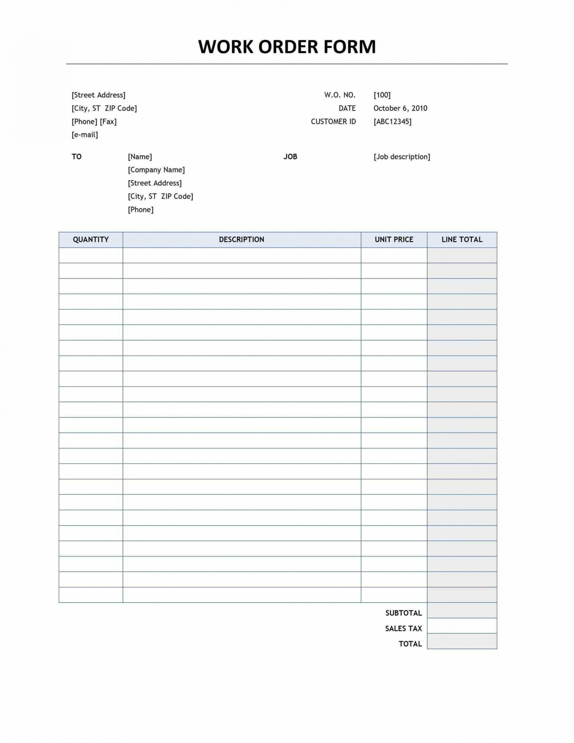 002 Rare Free Order Form Template Highest Clarity  Sale Excel Pdf1920