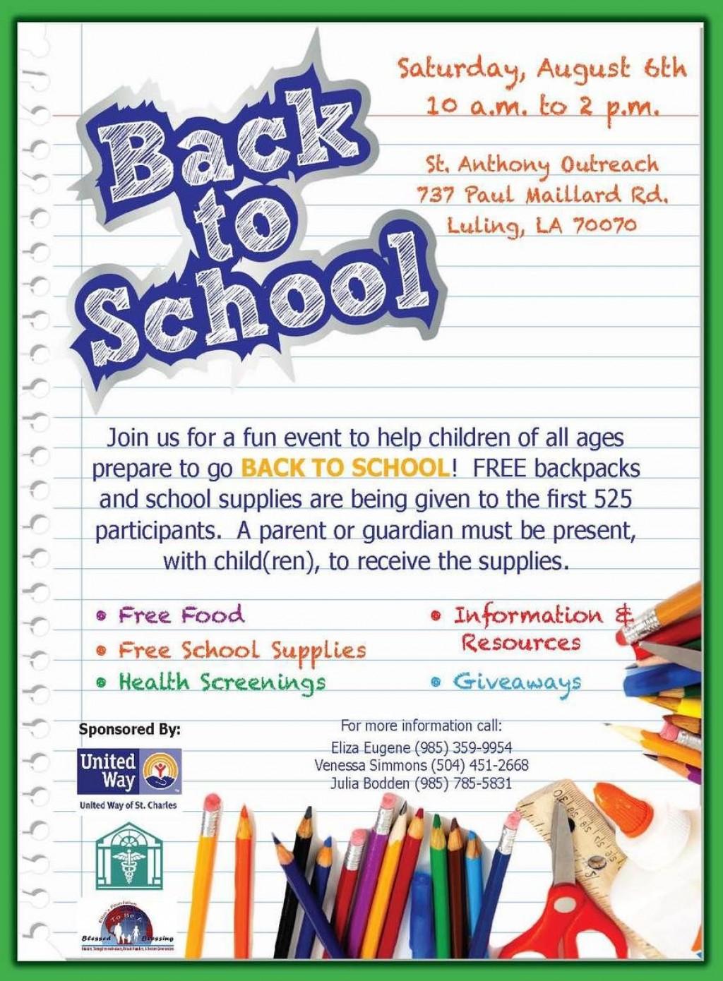 002 Rare Free School Event Flyer Template Design  TemplatesLarge