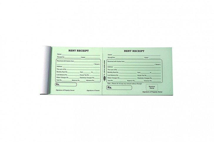 002 Rare House Rent Receipt Template India Doc Highest Quality  Format Download728