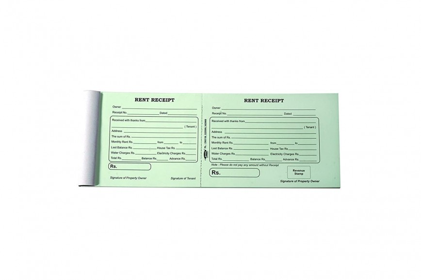 002 Rare House Rent Receipt Template India Doc Highest Quality  Format Download868