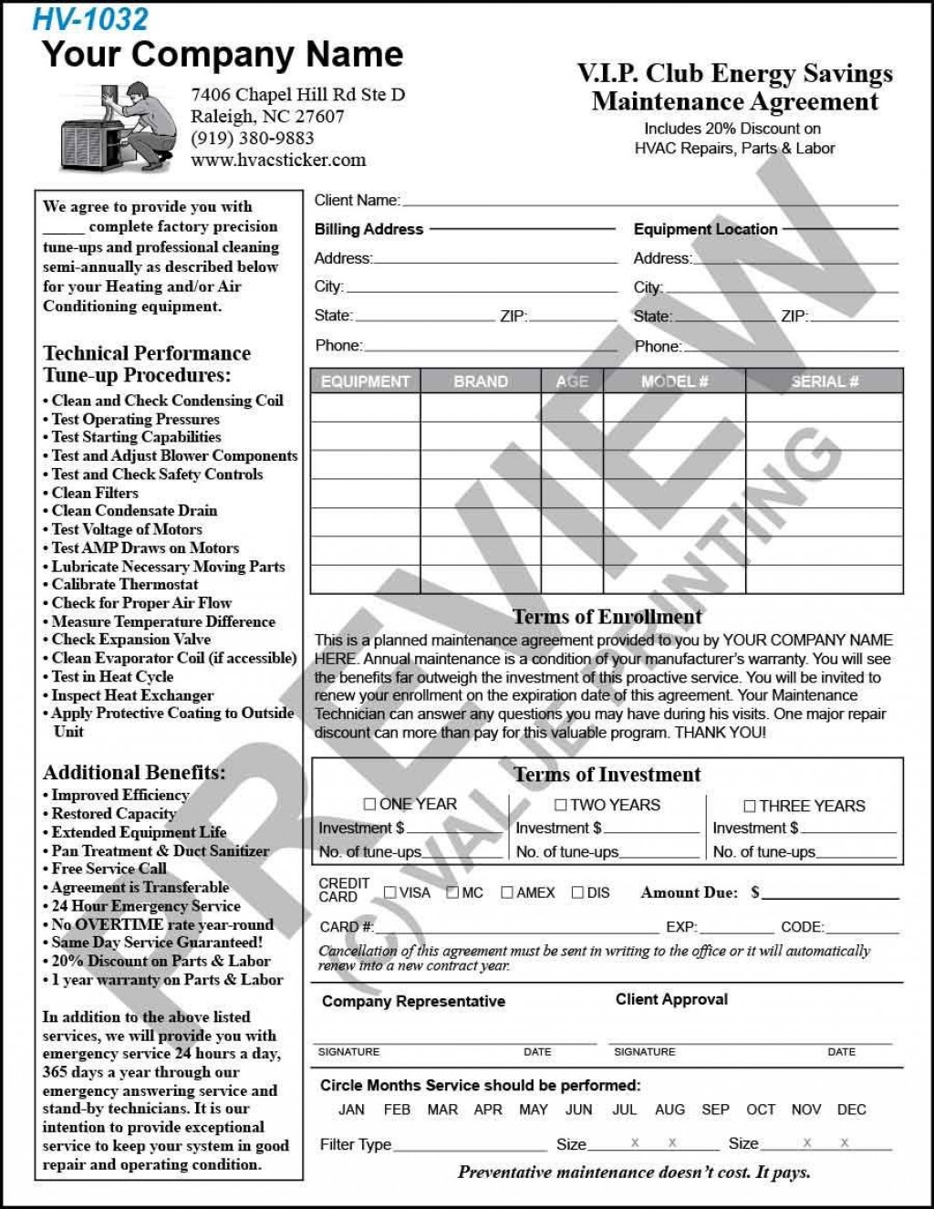 002 Rare Hvac Service Agreement Template Photo  Contract Form Maintenance PdfLarge
