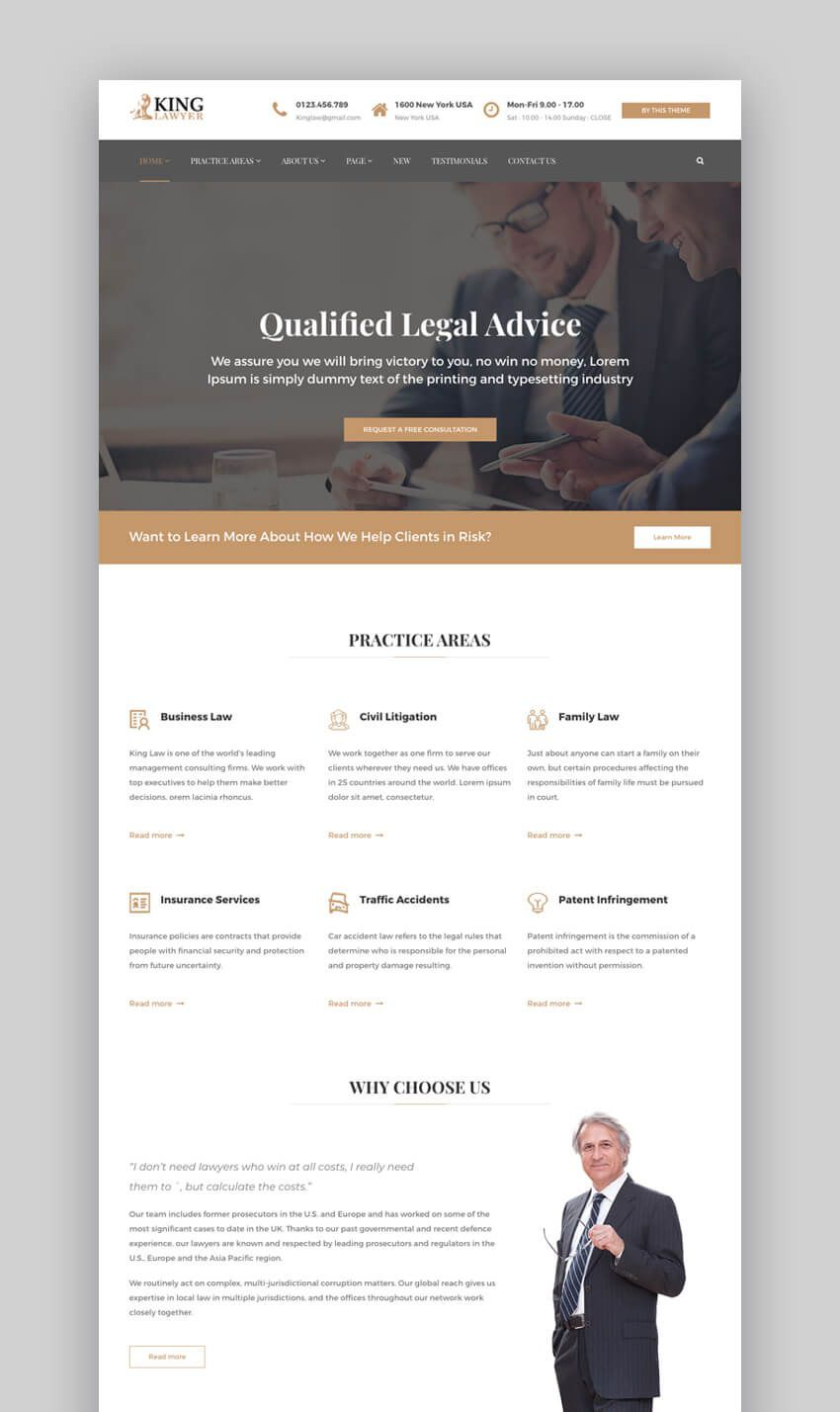 002 Rare Law Firm Website Template Free Example  WordpresFull