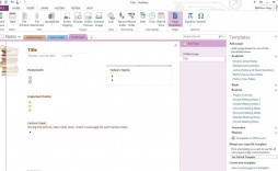 002 Rare Microsoft Onenote Project Management Template Idea