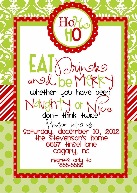 002 Rare Office Christma Party Invitation Wording Sample Photo  Holiday ExampleFull