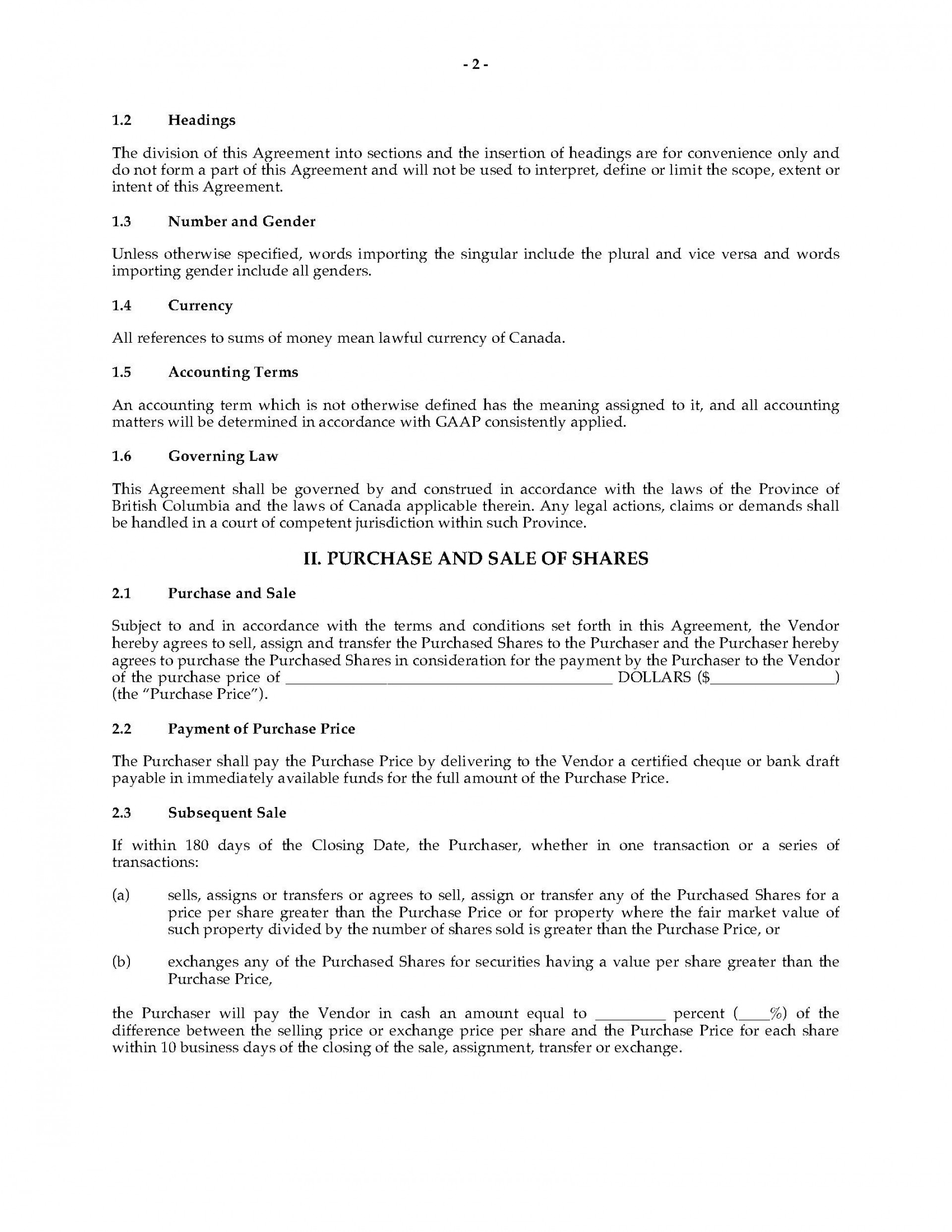 002 Rare Real Estate Purchase Agreement Template British Columbia Highest Clarity 1920
