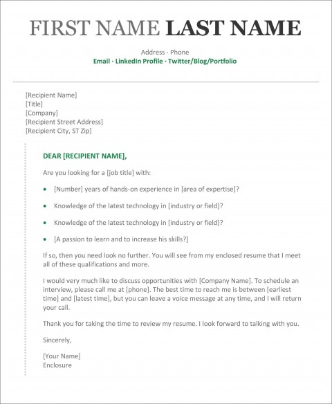 002 Rare Resume Cover Letter Template Microsoft Word Picture 480