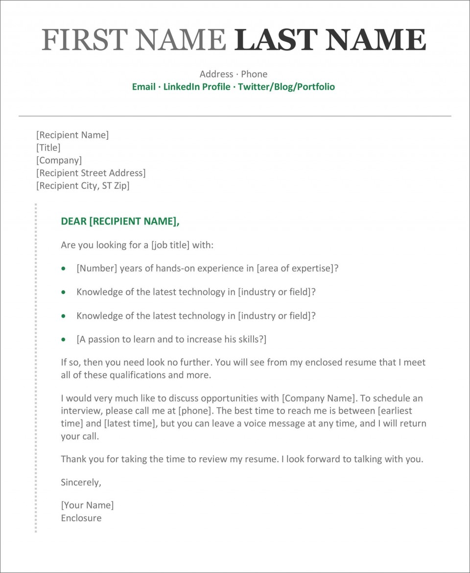 002 Rare Resume Cover Letter Template Microsoft Word Picture 960
