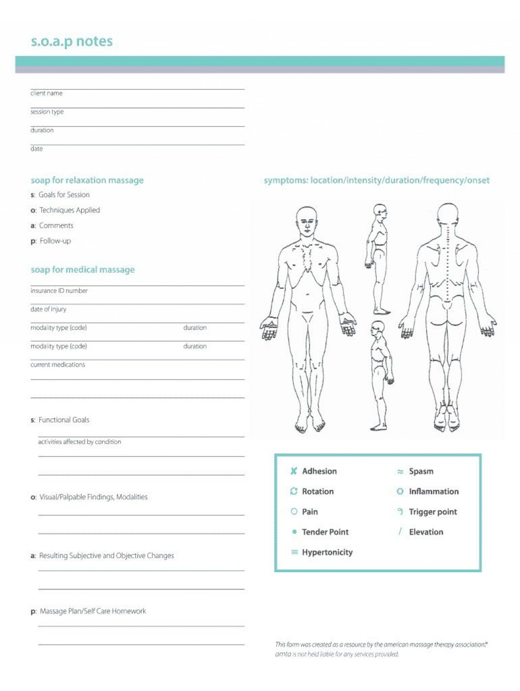 002 Rare Soap Note Template Pdf High Resolution  Massage Free ChiropracticLarge