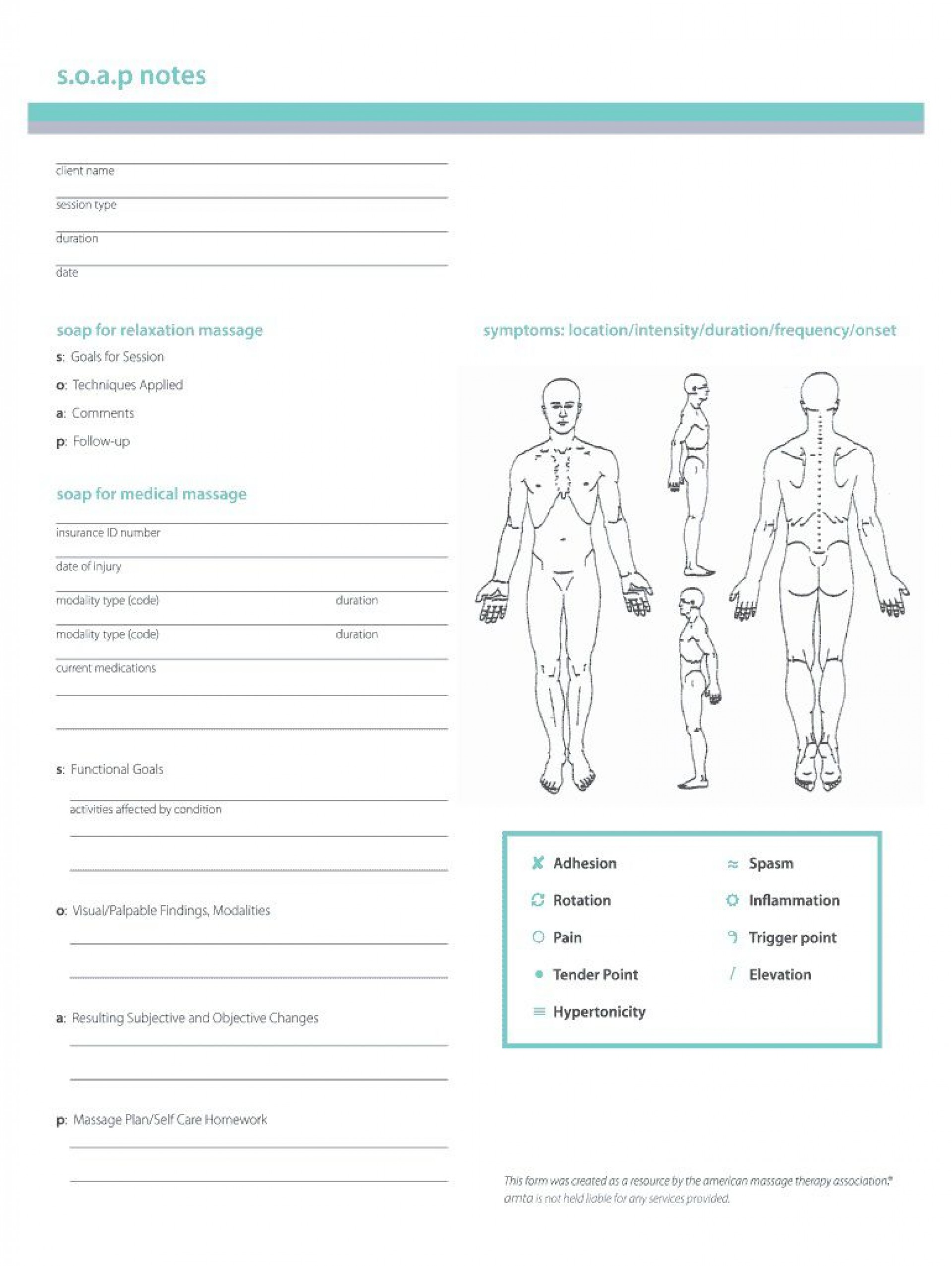 002 Rare Soap Note Template Pdf High Resolution  Massage Free Chiropractic1920