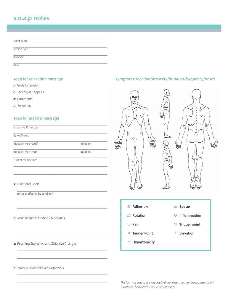 002 Rare Soap Note Template Pdf High Resolution  Massage Free ChiropracticFull