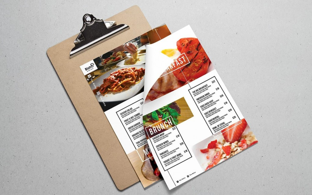 002 Rare Take Out Menu Template Concept  Tri Fold Free Word Restaurant AwayLarge