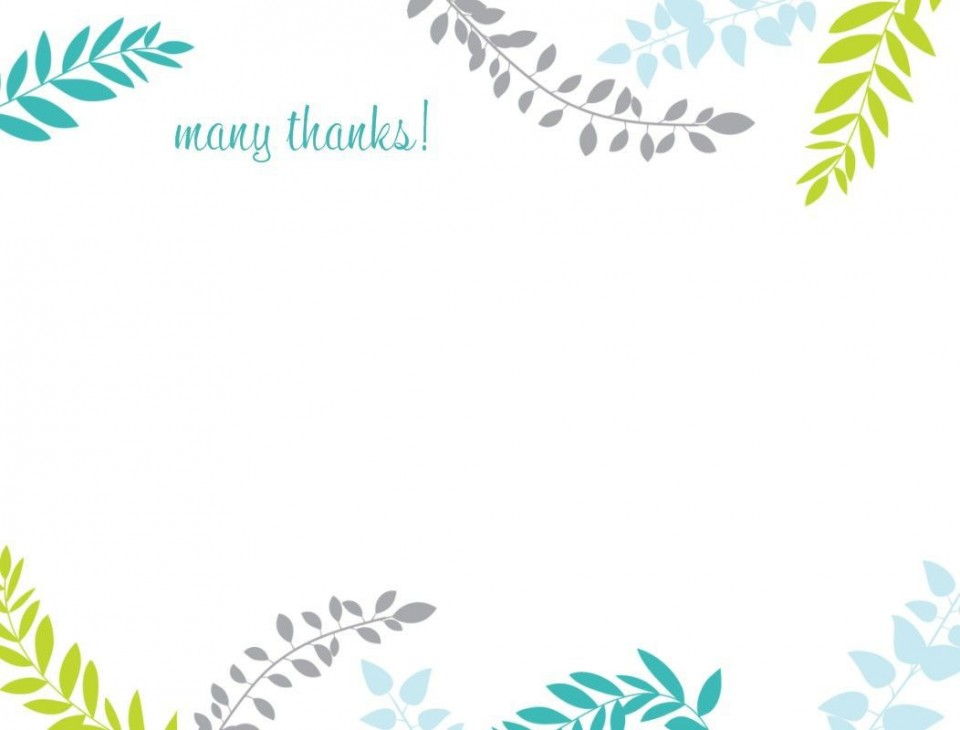 002 Rare Thank You Note Card Template Word Example 960